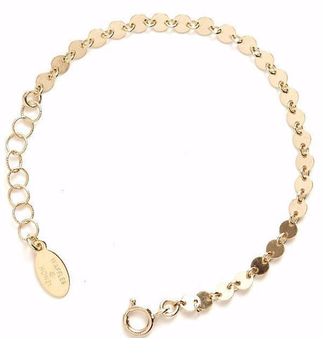 Gold Disc Anklet