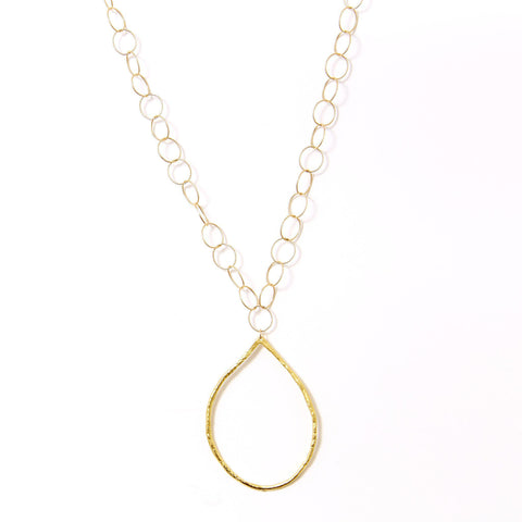Gold Hoop Ana Necklace