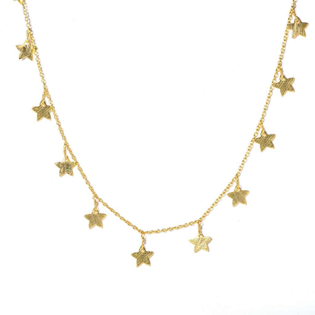 Gold Star Choker-Necklaces-Waffles & Honey Jewelry-Waffles & Honey Jewelry