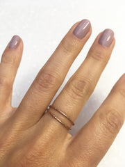 Hammered Rose Gold Stacking Ring-Rings-Waffles & Honey Jewelry-Waffles & Honey Jewelry