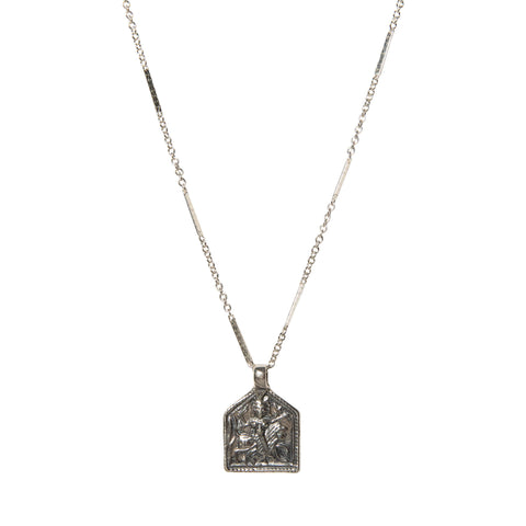 House of Buddha Necklace in Silver