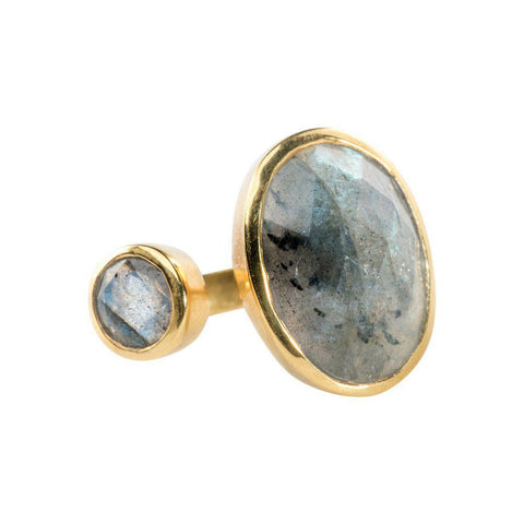 Hugging Ring in Labradorite