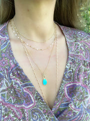 Turquoise LUX Necklace - Waffles & Honey Jewelry