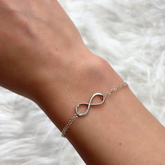 Infinity Bracelet in Silver-Necklaces-Waffles & Honey Jewelry-Waffles & Honey Jewelry