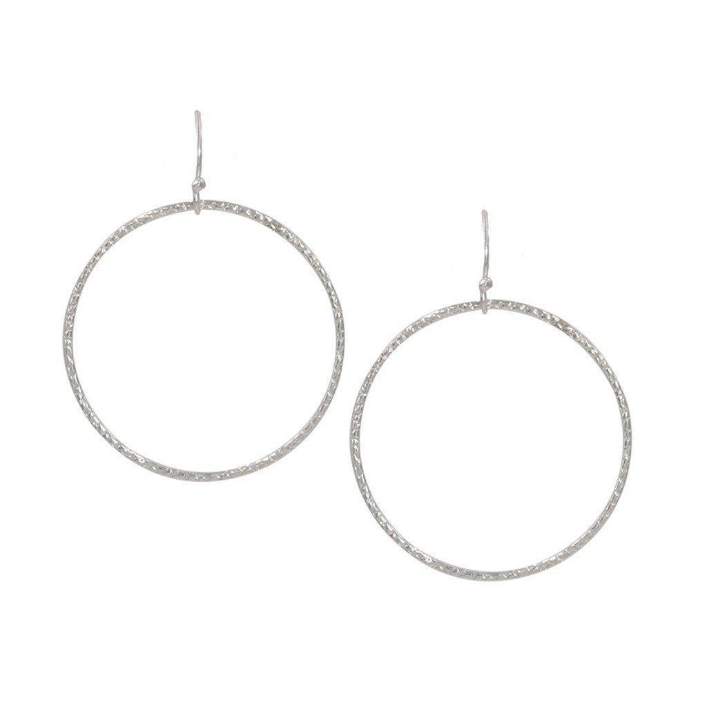 Infinity Circle Earrings in Silver-Earrings-Waffles & Honey Jewelry-Waffles & Honey Jewelry