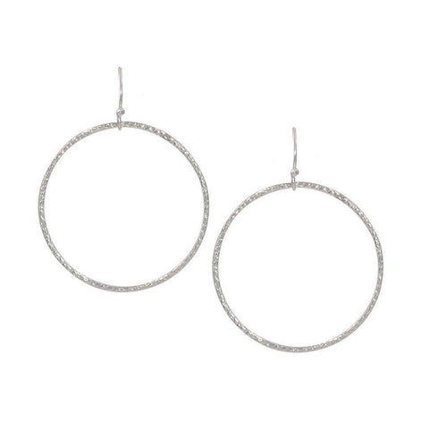 Infinity Circle Earrings in Silver