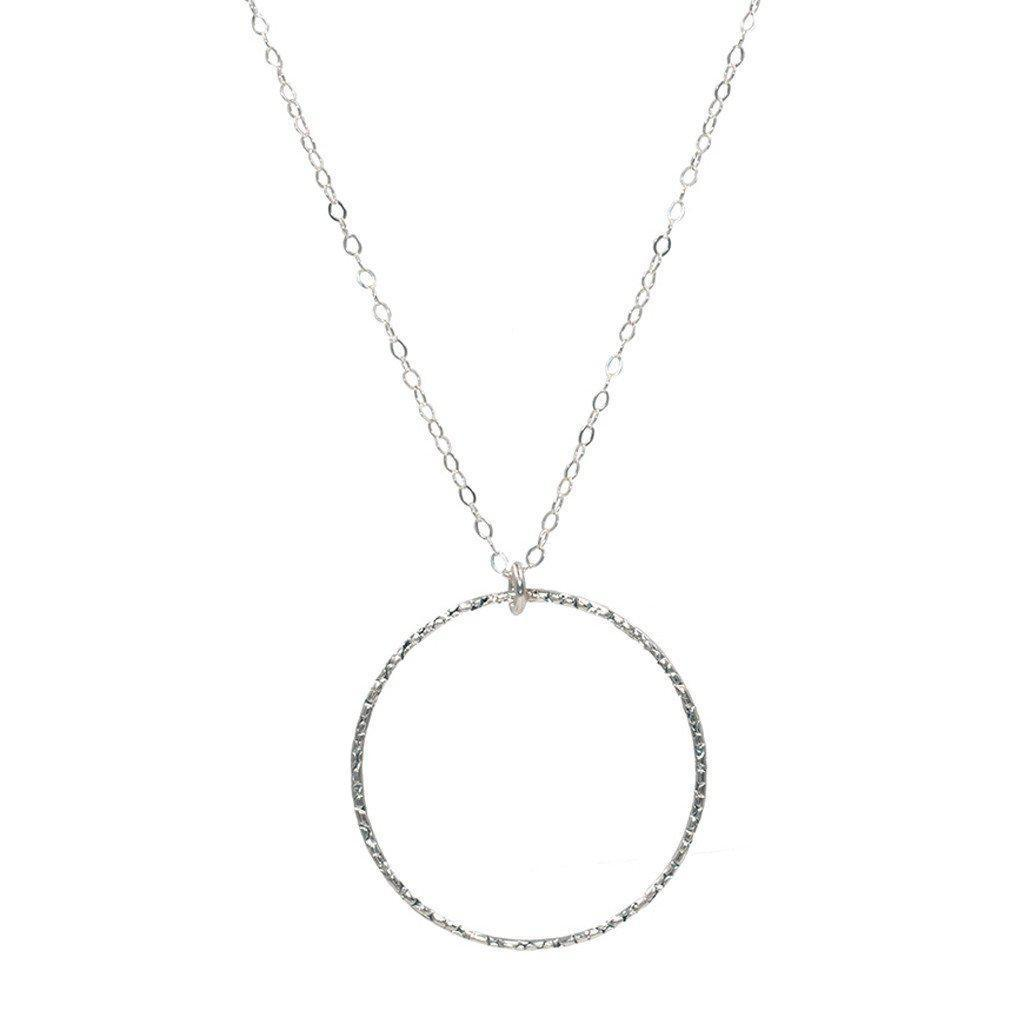 Infinity Circle Necklace in Silver-Necklaces-Waffles & Honey Jewelry-Waffles & Honey Jewelry