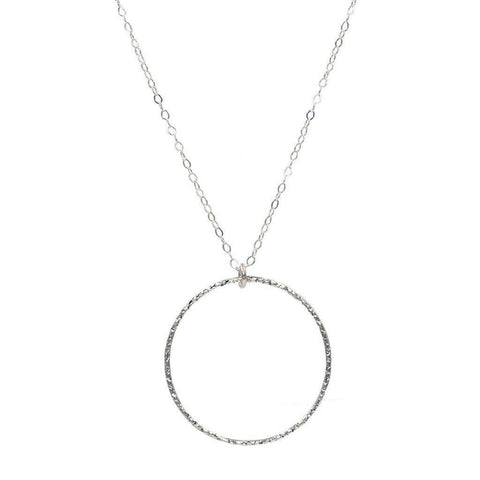 Infinity Circle Necklace in Silver