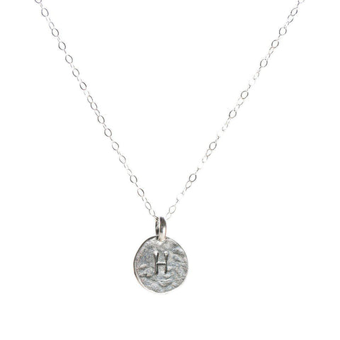 Initial Charm Necklace in Silver