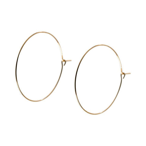 Isabel Hoops in Gold