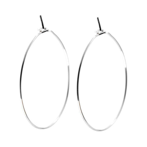 Isabel Hoops in Silver