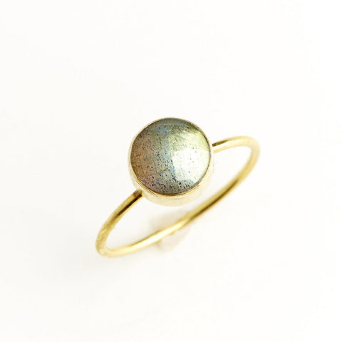 Labradorite Circle Stacking Ring