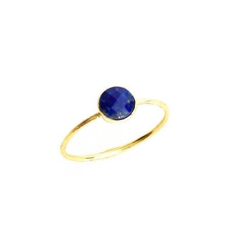 Lapis Circle Stacking Ring