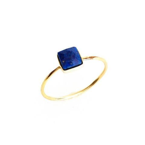 Lapis Square Stacking Ring