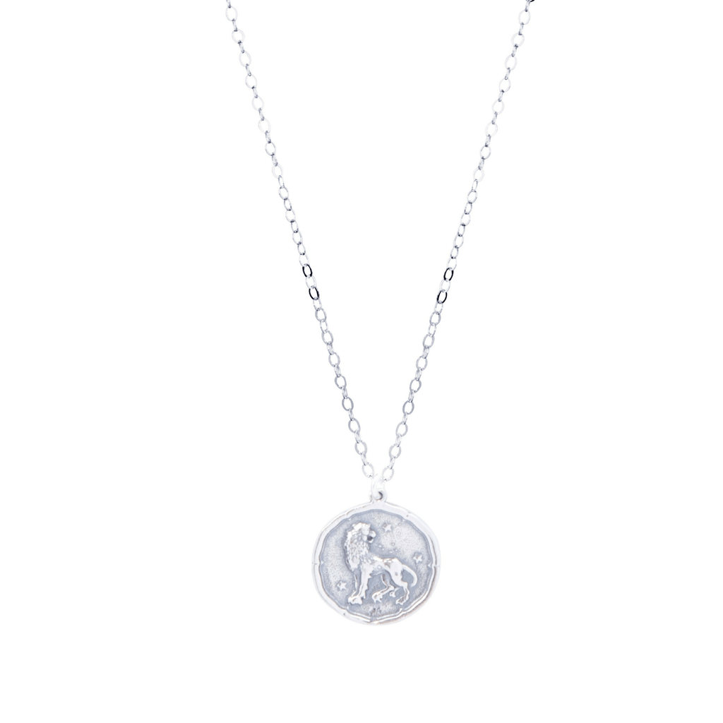 Leo Zodiac Necklace in Silver-Necklaces-Waffles & Honey Jewelry-Waffles & Honey Jewelry