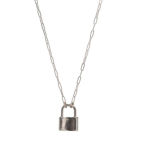 Lock Necklace in Silver