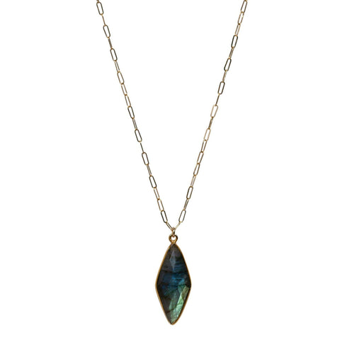 Long Emily Necklace in Labradorite