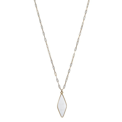 Long Emily Necklace in Moonstone