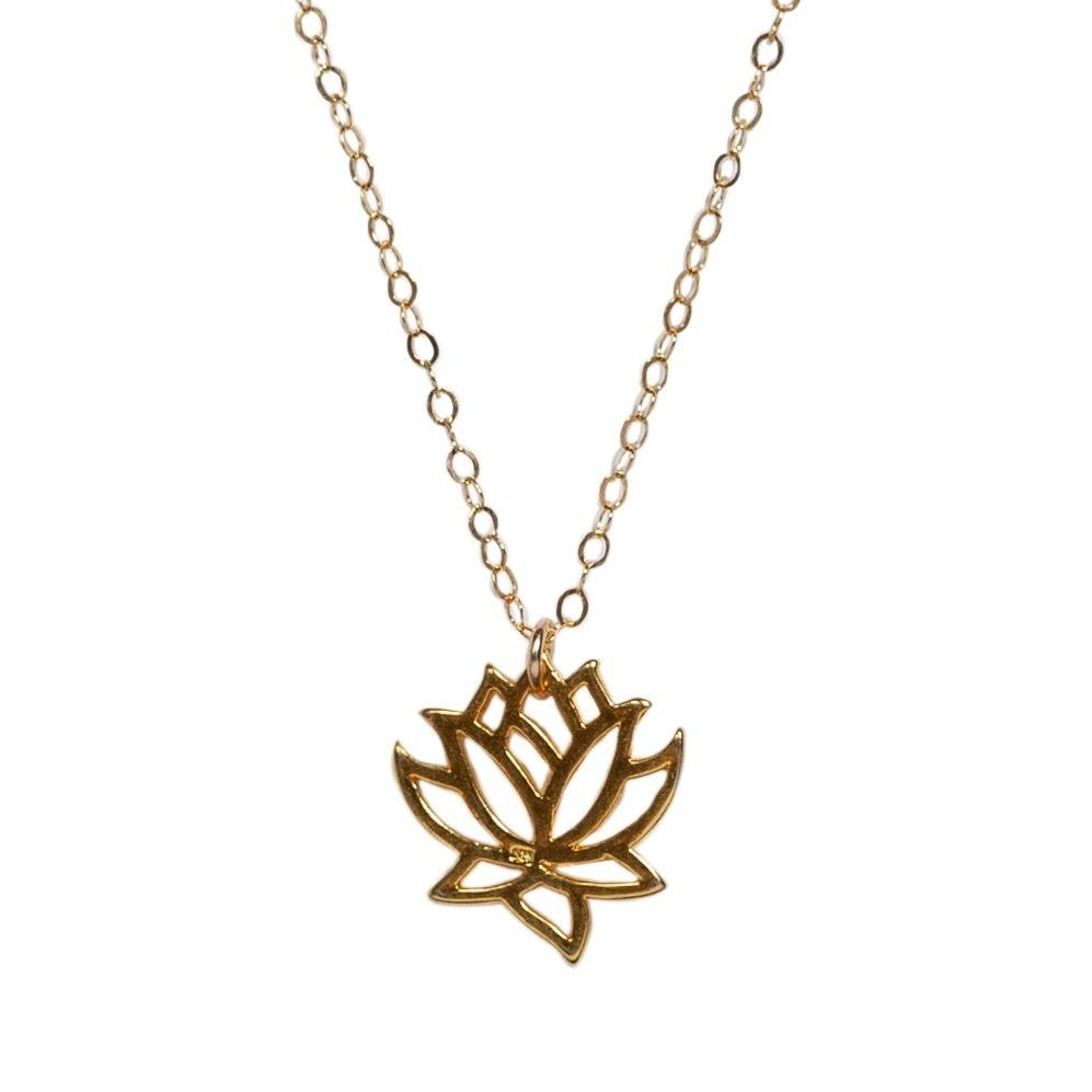 Lotus Necklace-Necklaces-Waffles & Honey Jewelry-Waffles & Honey Jewelry