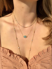 Madeline Necklace in Amazonite-Necklaces-Waffles & Honey Jewelry-Waffles & Honey Jewelry