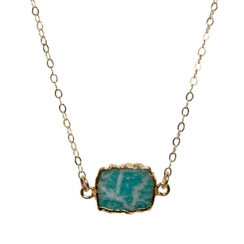 Madeline Necklace in Amazonite