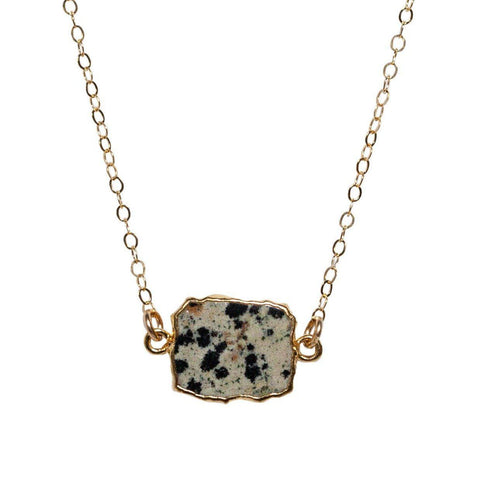 Madeline Necklace in Dalmation Jasper