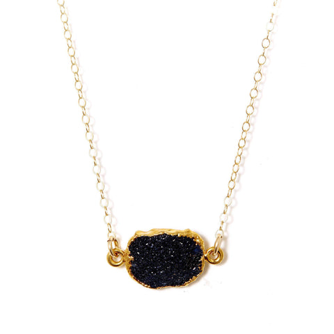 Madeline Necklace in Midnight Druzy