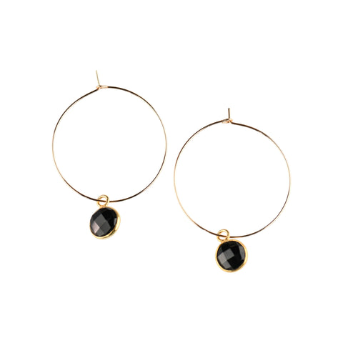 Margi Hoops in Onyx
