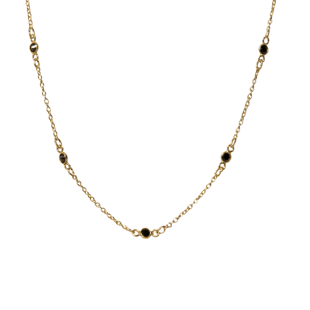 Maxie Choker in Onyx-Necklaces-Waffles & Honey Jewelry-Waffles & Honey Jewelry