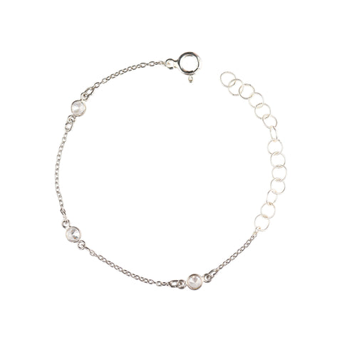 Maxie CZ Solitaire Bracelet in Silver