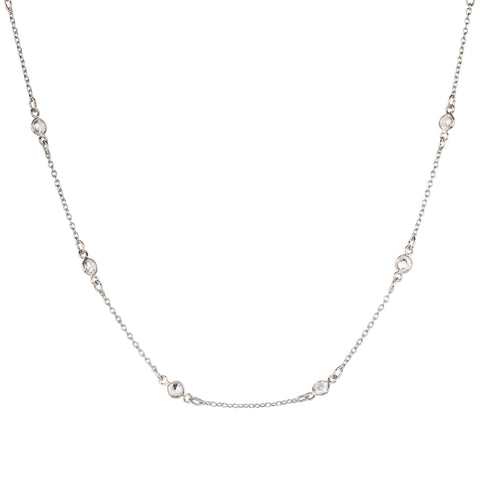 Maxie CZ Solitaire Choker in Silver