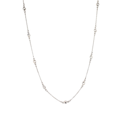 Maxie CZ Solitaire Necklace in Silver