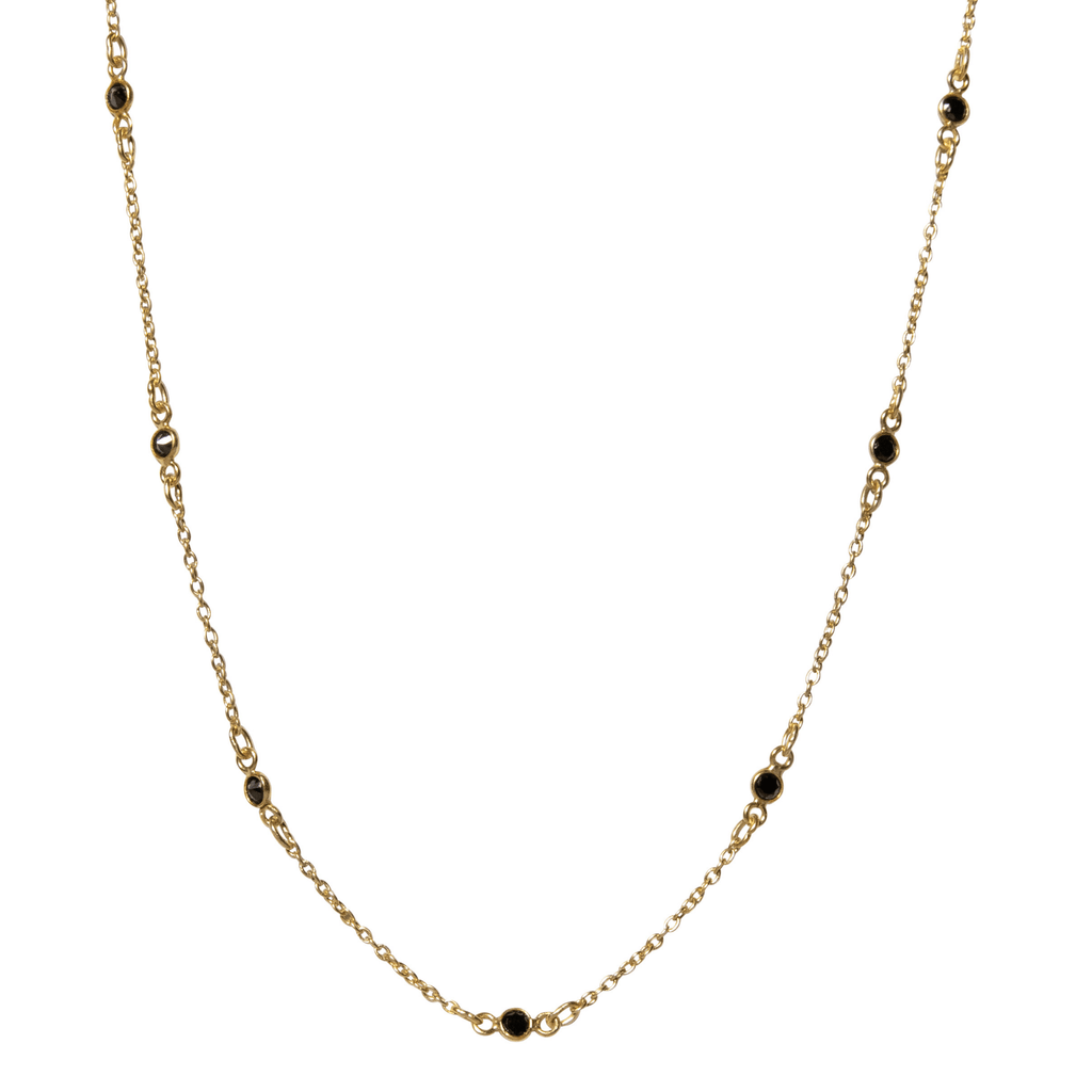 Maxie Necklace in Onyx-Necklaces-Waffles & Honey Jewelry-Waffles & Honey Jewelry
