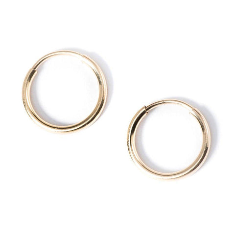 Mini Basic Hoops in Gold