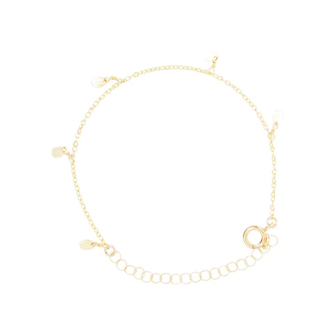 Mini Petal Bracelet in Gold