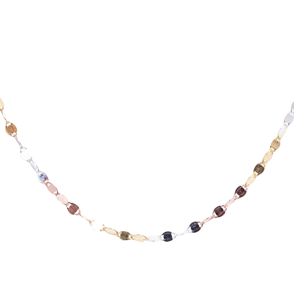 Mixed Metal Glitter Choker