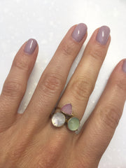 Moonstone Circle Stacking Ring-Rings-Waffles & Honey Jewelry-Waffles & Honey Jewelry