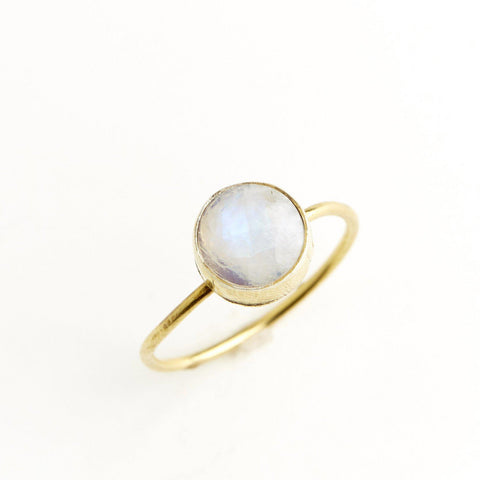 Moonstone Circle Stacking Ring