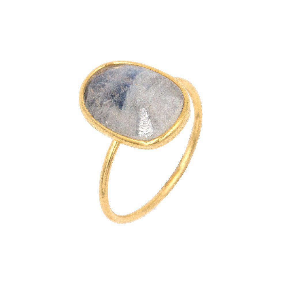 Moonstone Oval Stacking Ring-Rings-Waffles & Honey Jewelry-Waffles & Honey Jewelry