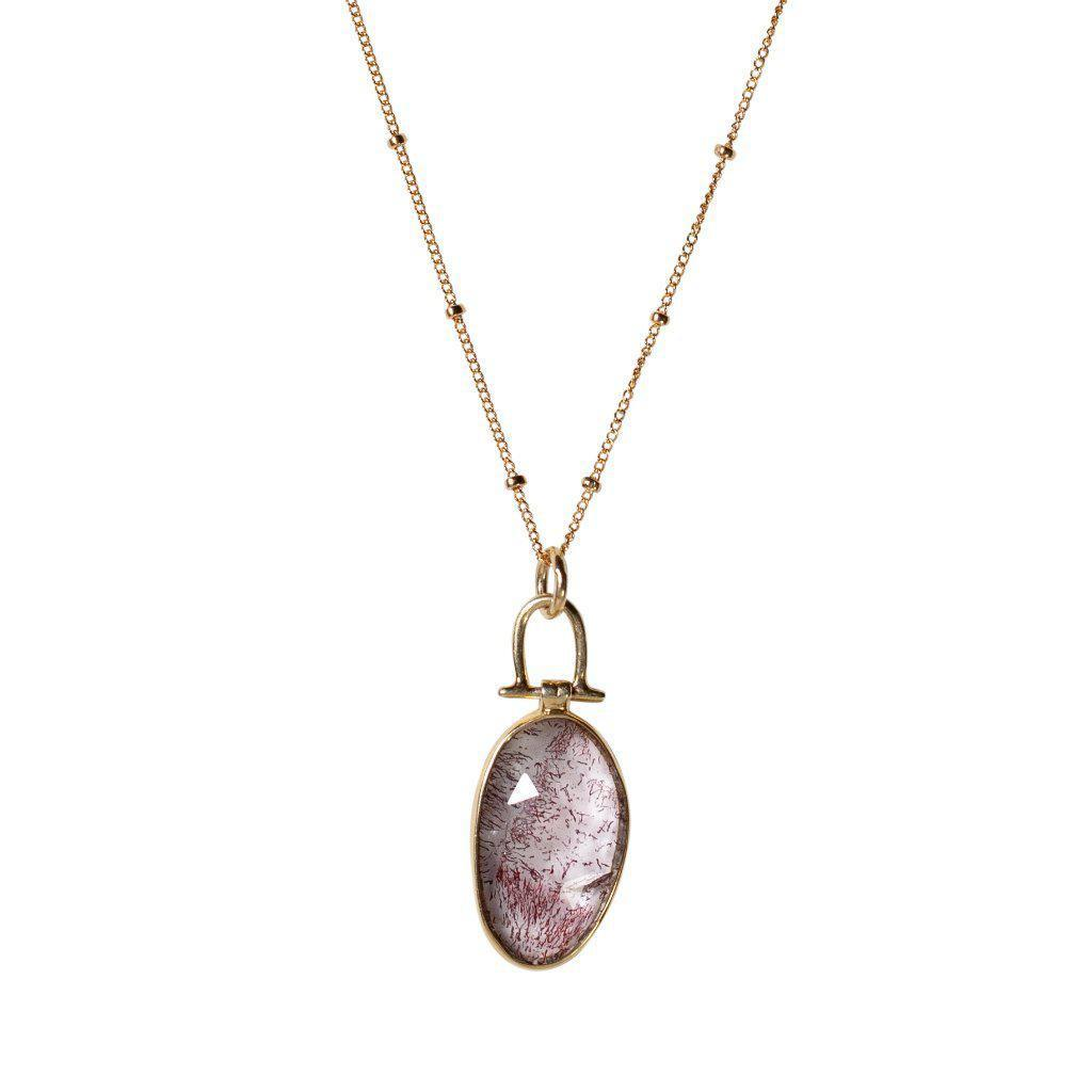 Moss Amethyst Necklace-Necklaces-Waffles & Honey Jewelry-Waffles & Honey Jewelry