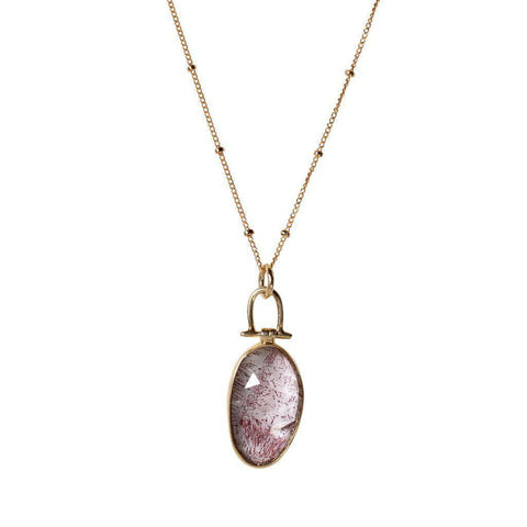 Moss Amethyst Necklace