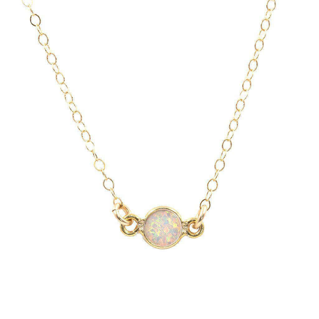 Opal Solitaire Necklace-Necklaces-Waffles & Honey Jewelry-Waffles & Honey Jewelry