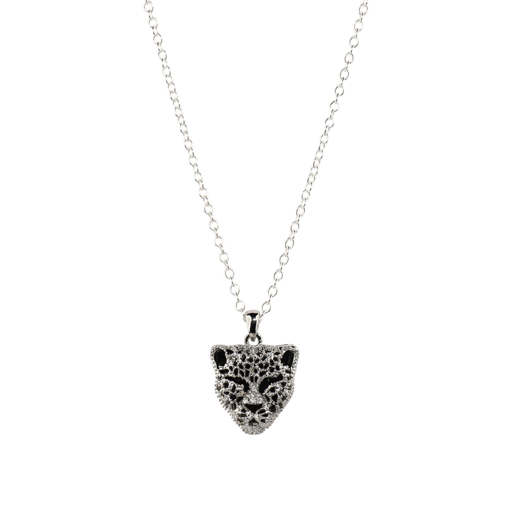 Panther Necklace in Silver-Necklaces-Waffles & Honey Jewelry-Waffles & Honey Jewelry