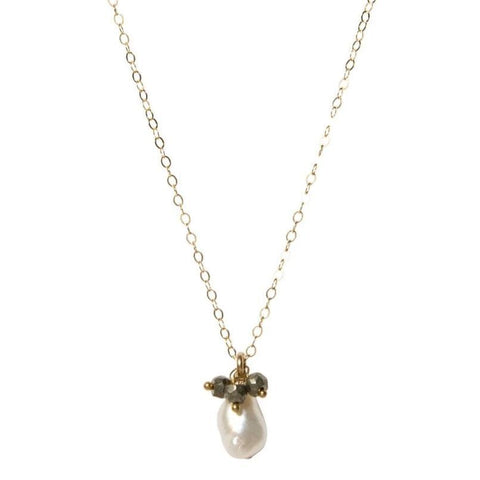 Pearl and Pyrite Keepsake Necklace