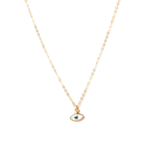 Pearl Evil Eye Necklace