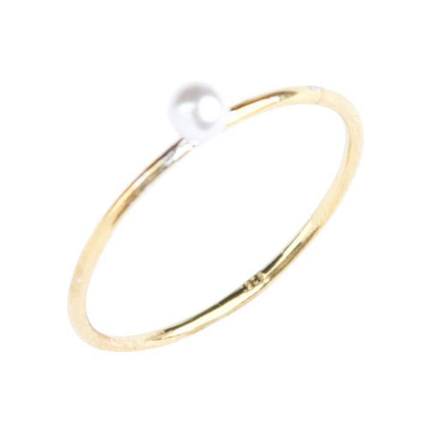 Pearl Stacking Ring in Gold