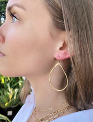 Petite Hammered Hoops in Gold-Earrings-Waffles & Honey Jewelry-Waffles & Honey Jewelry