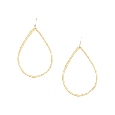 Petite Hammered Hoops in Gold