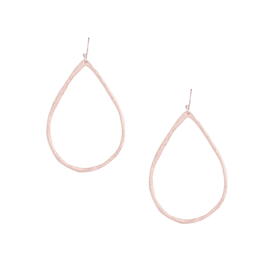 Petite Hammered Hoops in Rose Gold-Earrings-Waffles & Honey Jewelry-Waffles & Honey Jewelry