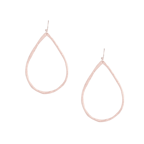 Petite Hammered Hoops in Rose Gold